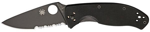 Spyderco Tenacious G-10 Combination Edge Blade