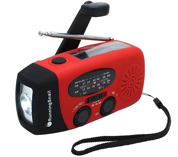 Running Snail Solar Powered Emergency Radio