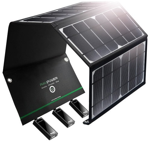 RAVpower Waterproof Foldable Camping Solar Charger