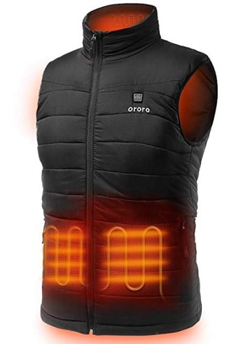 Lightweight Heated Vest with Battery Pack