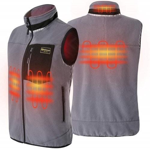 Polar Fleece USB Battery Pack Heated Waistcoat