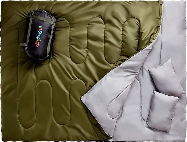 Double Sleeping Bag for Hiking & Camping